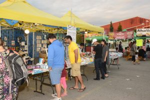 Early Friday evening at the Surrey Night Market and the attendance is low. Photo: Ray Hudson