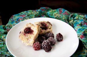 blackberry ginger cardamom scones