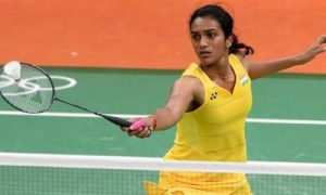 Rio de Janeiro: India's badminton player P V Sindhu plays  against Laura Sarosi of Hungary during the Women's Single match at the Summer Olympic 2016 in Rio de Janeiro, Brazil on Thursday. PV Sindhu won the match by 21-8, 21-9.  PTI Photo by Atul Yadav(PTI8_11_2016_000302B)