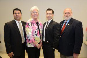 L-R President & CEO Dr. Harinder Dhanju, Dr. Marcia Boyd-Director, Dr. Coby Craig-Director, Dr. Charles Shuler-Director.