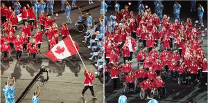 Canada's Paralympian team enters the Olympic Stadium in Rio