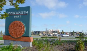 > Looking toward Tsawwassen Mills Entrance 3, as the massive mall undergoes last minute preparations for its October 5 opening. Photos: Ray Hudson