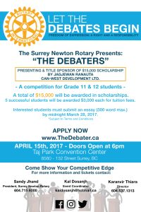 Surrey Newton Rotary TheDebater