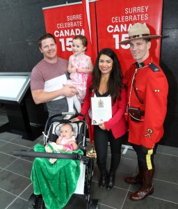 Canadian citizenship ceremony at Surrey City Hall