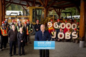 John Horgan 96,000 jobs