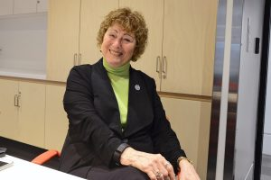 Mayor Lois Jackson in the board room of the expanded North Delta Rec Centre. Photo: Ray Hudson