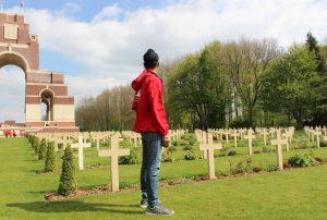 Abhay at graveyard