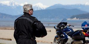Motorcycle-beach