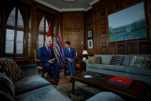 Premier John Horgan with Prime Minster Justin Trudeau             Photo: John Horgan Twitter