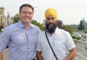 MP Alistair MacGregor with Jagmeet Singh