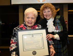 Mayor Lois Jackson with Joyce Marshall, Delta Police Department's Volunteer of the Year