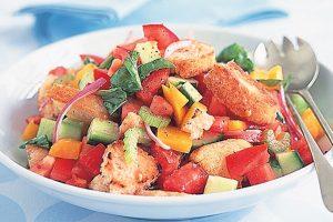 Panzanella Salad with Tomatoes
