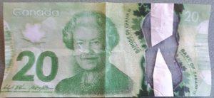 Counterfeit $20 bill
