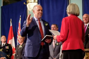 Premier John Horgan was sworn in as the 36th Premier of British Columbia on July 18, 2017.