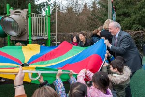 Premier John Horgan visits Douglas College Early Childhood Education Society.