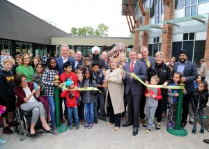 Surrey residents, visitors and local dignitaries gather for the Sept. 29 ribbon cutting ceremony and grand opening of the newly expanded Museum of Surrey and surrounding cultural campus.